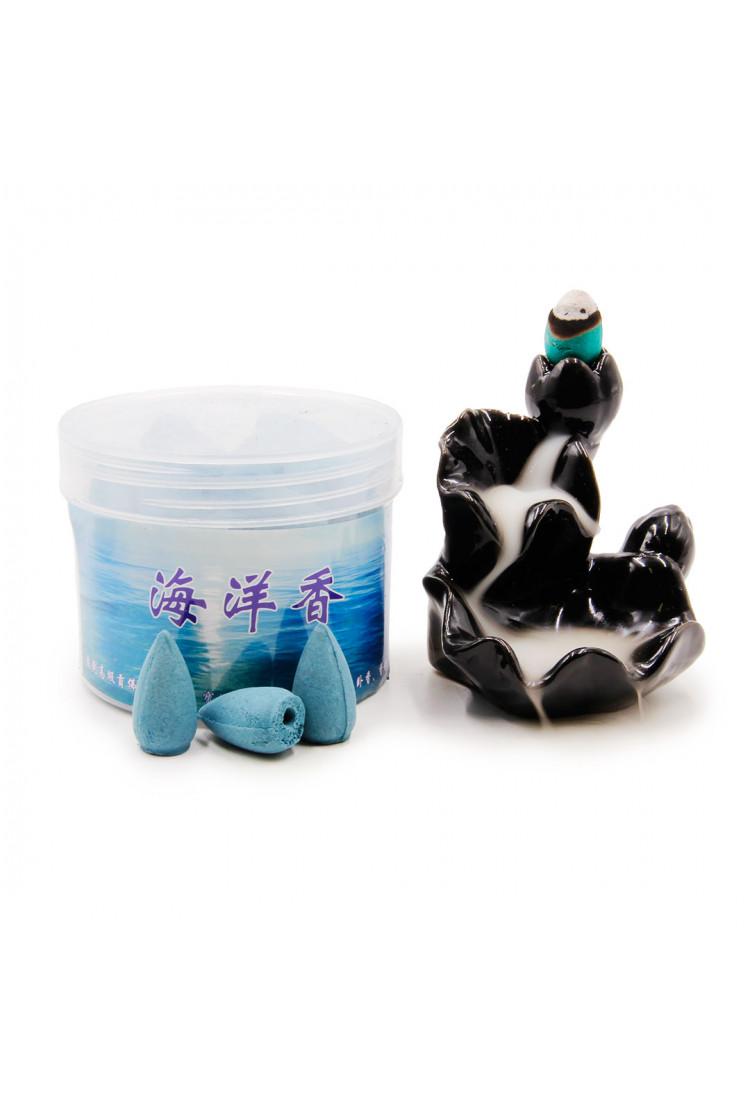 Благовония Пуля BVP-1 стелющийся дым Океан Цветы Корамбулы и Черной Орхидеи более 40 шт