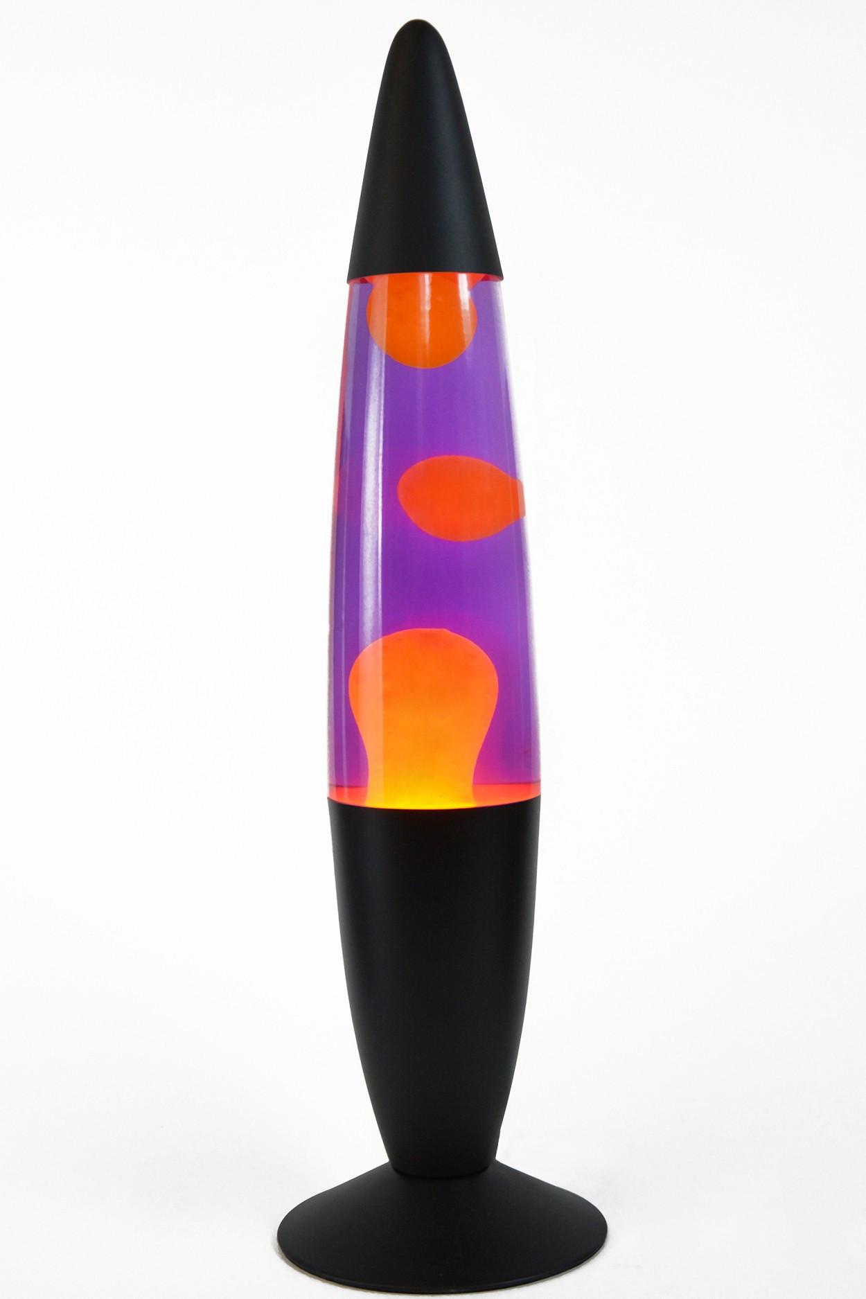 Лава-лампа 41см Оранжевая/Фиолетовая (Воск) Black