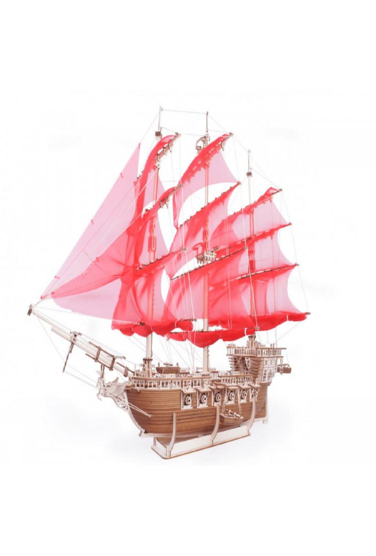 """Сборная модель из дерева Lemmo """"Корабль Пегас"""" (76 × 42 × 63 см)"""