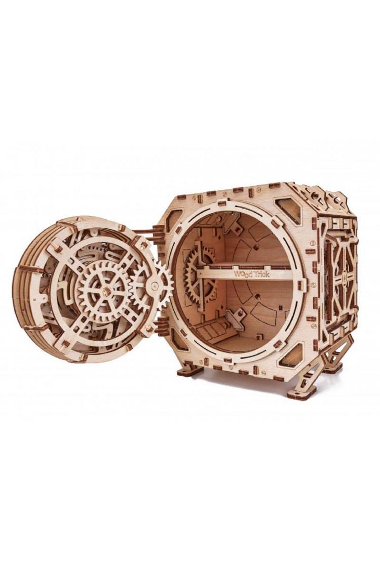 """Механическая сборная модель Wood Trick """"Механический Сейф"""" (15,5х18,5х19 см)"""