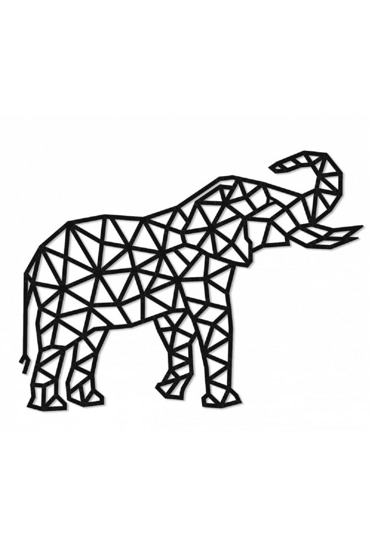 Деревянный интерьерный пазл EWA Design Слон (73,3х55,5х0,7 см)
