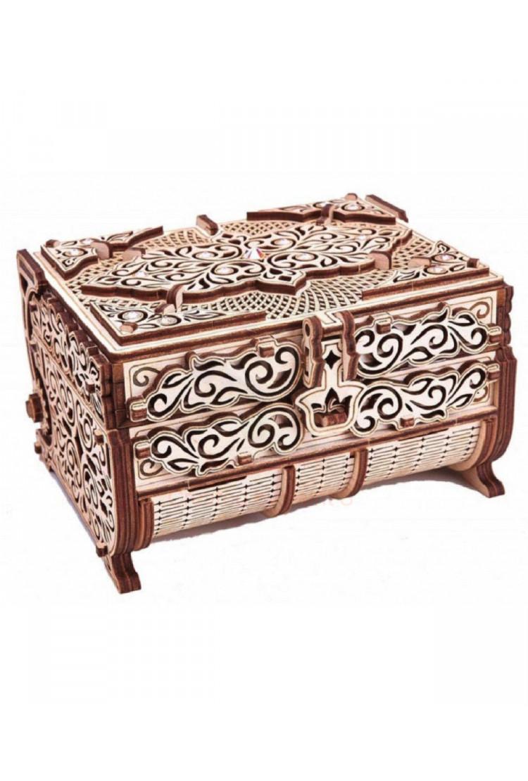 Cборная модель Wood Trick Шкатулка, декорированная кристаллами Swarovski (16,5х13х10 см)