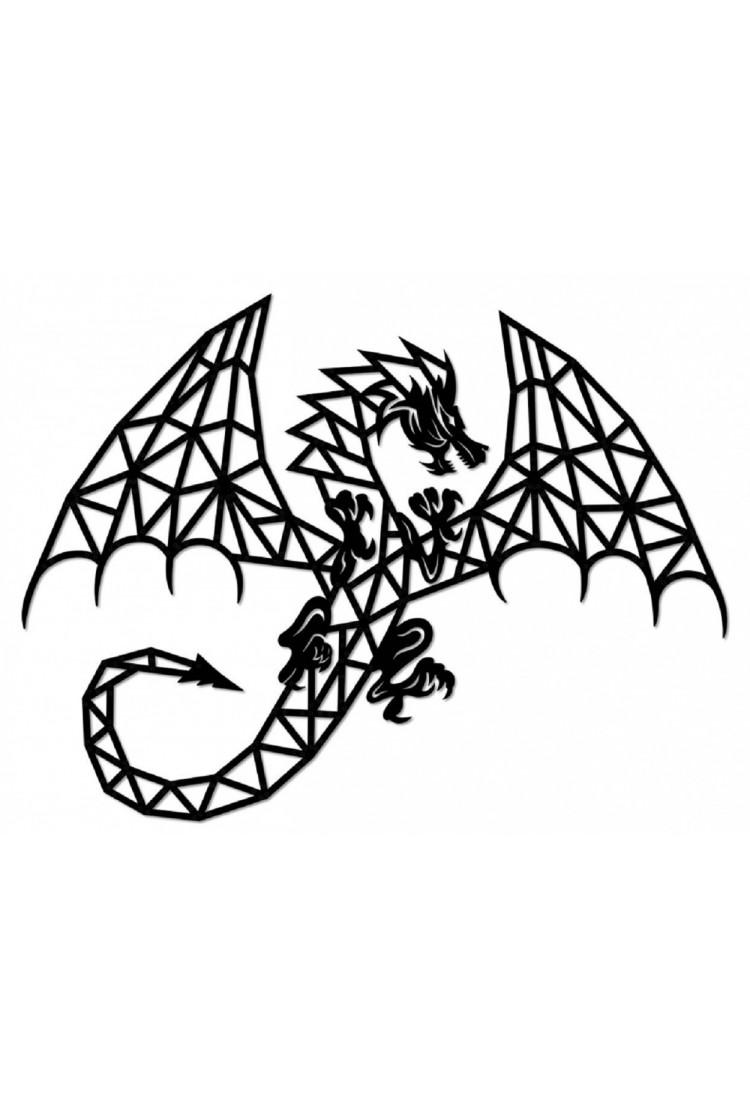 Деревянный интерьерный пазл EWA Design Дракон (94,8*71,6x0,7 см)