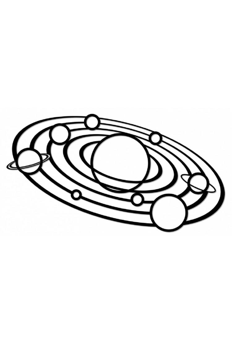 Деревянный интерьерный пазл EWA Design Солнечная система ( 80x36x0,7 см)