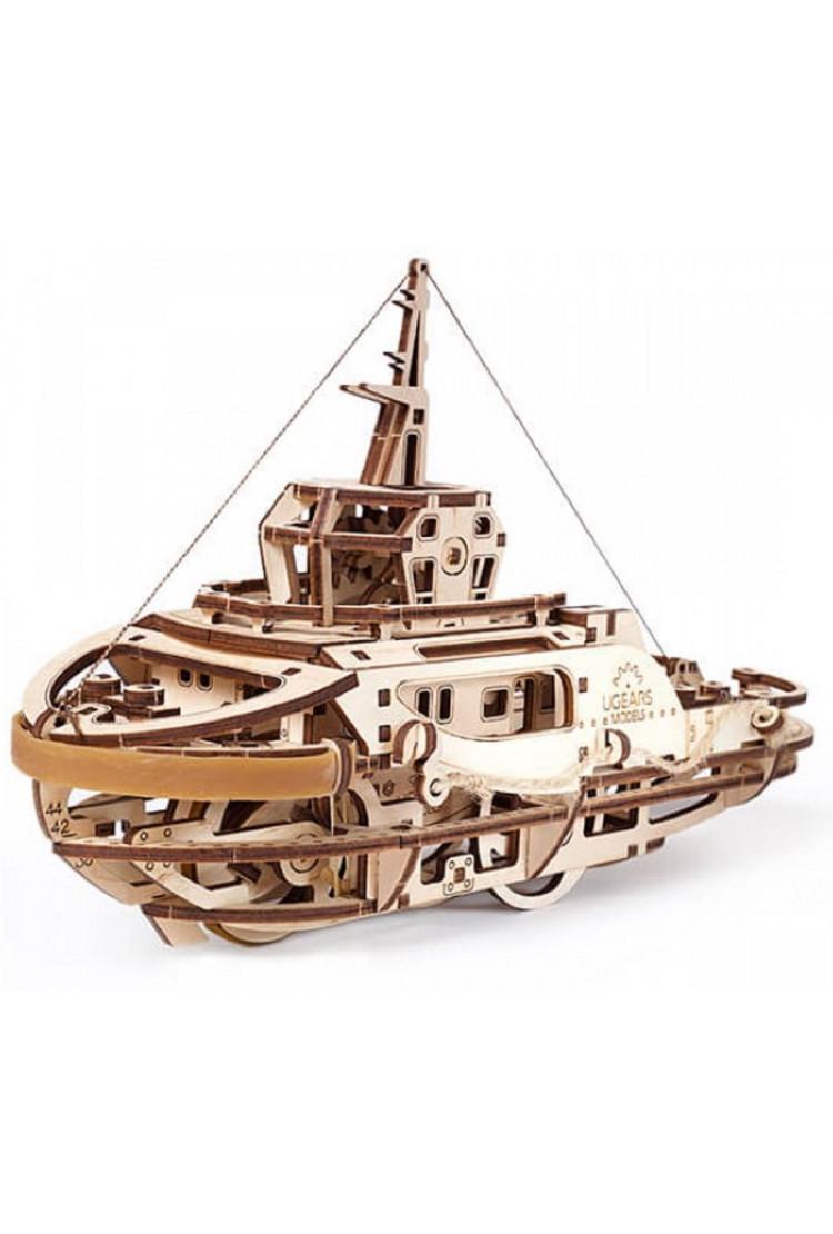 Сборная модель Ugears Буксир (28,5*12*18,5 см)