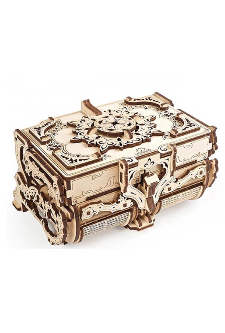 Сборная модель Ugears Антикварная шкатулка (17.5*14*10 см)