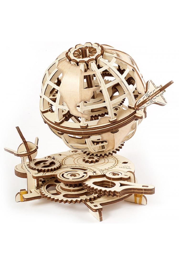 Сборная модель Ugears Глобус (21х18,5х18,5 см)