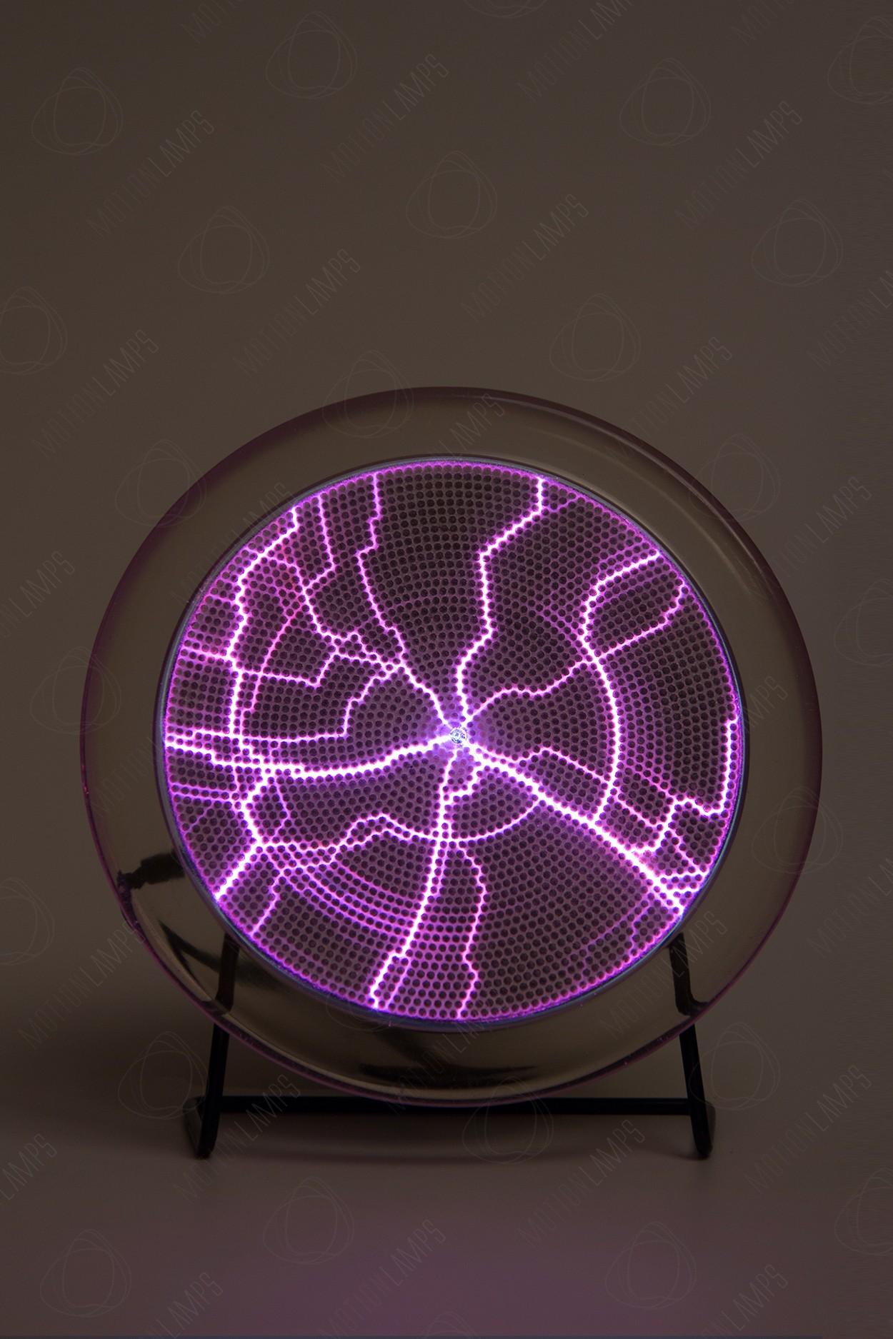 Электрический плазменный диск Тесла Розовый D - 15см