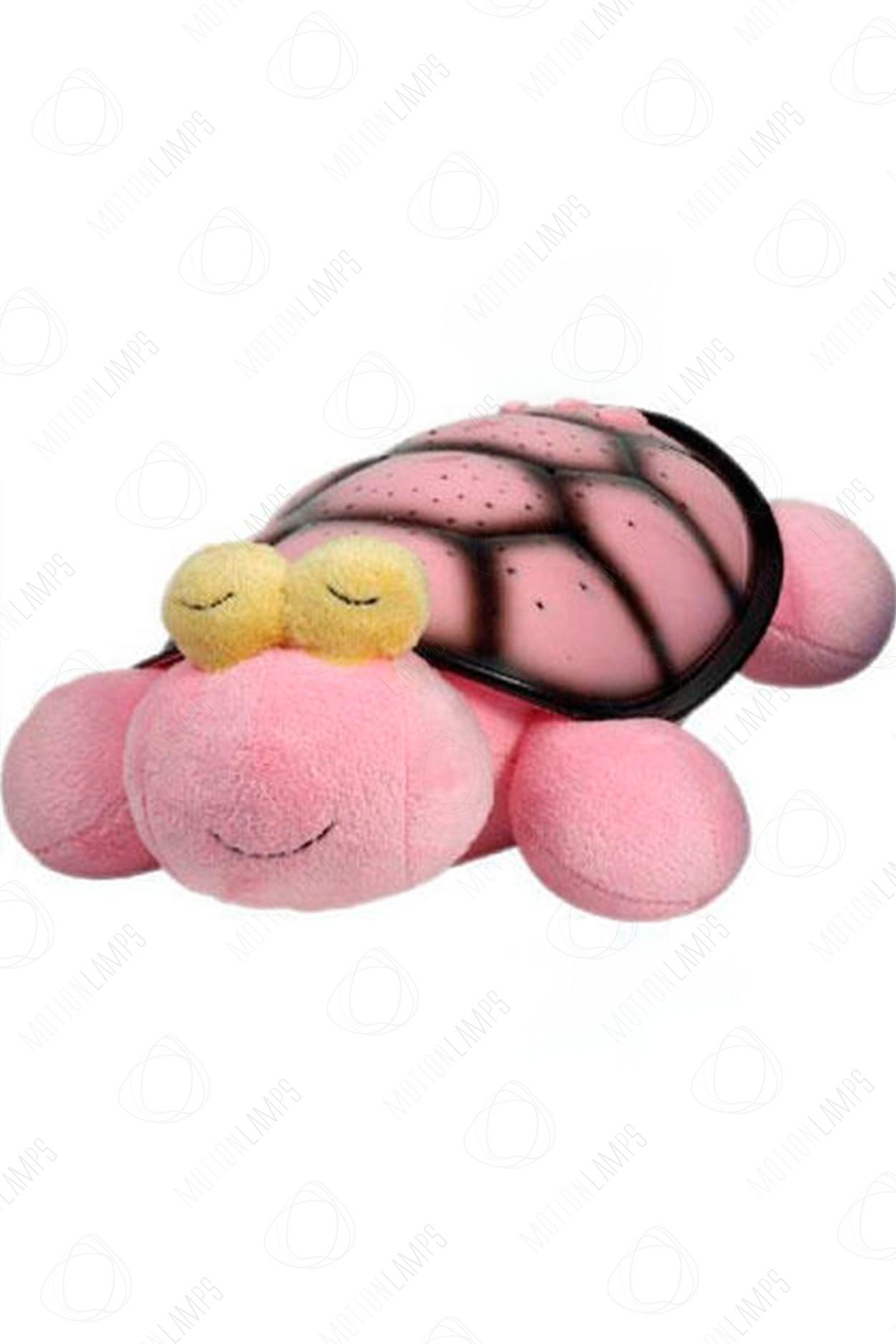 Ночник-проектор звездного неба Черепаха 38см Розовая
