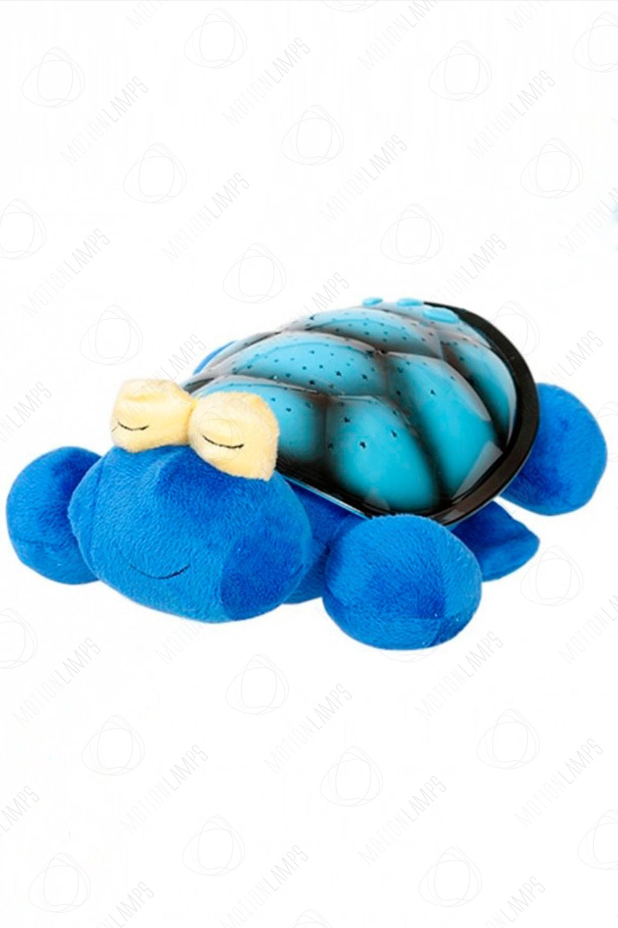 Ночник-проектор звездного неба Черепаха 38см Синяя