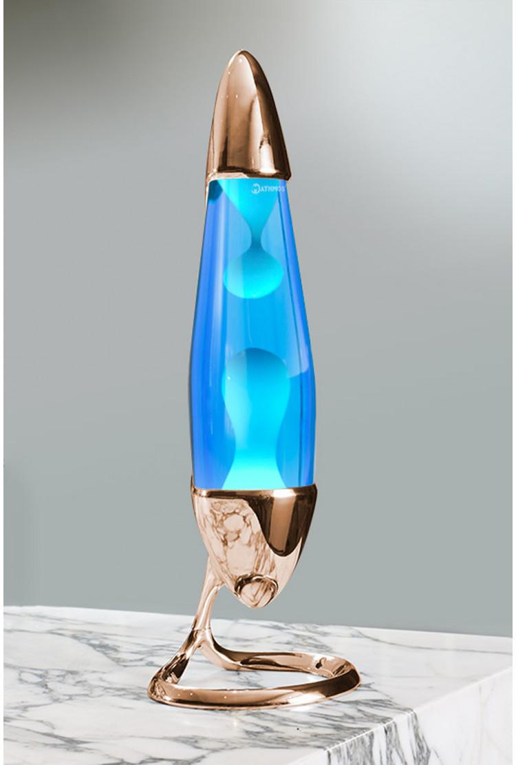 Лава-лампа Mathmos Neo Бирюзовая/Синяя Copper (Воск)
