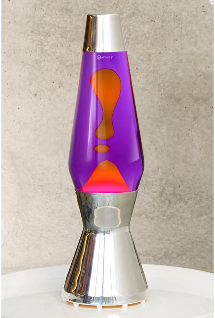 Лава-лампа Mathmos Astro Оранжевая/Фиолетовая Silver (Воск)