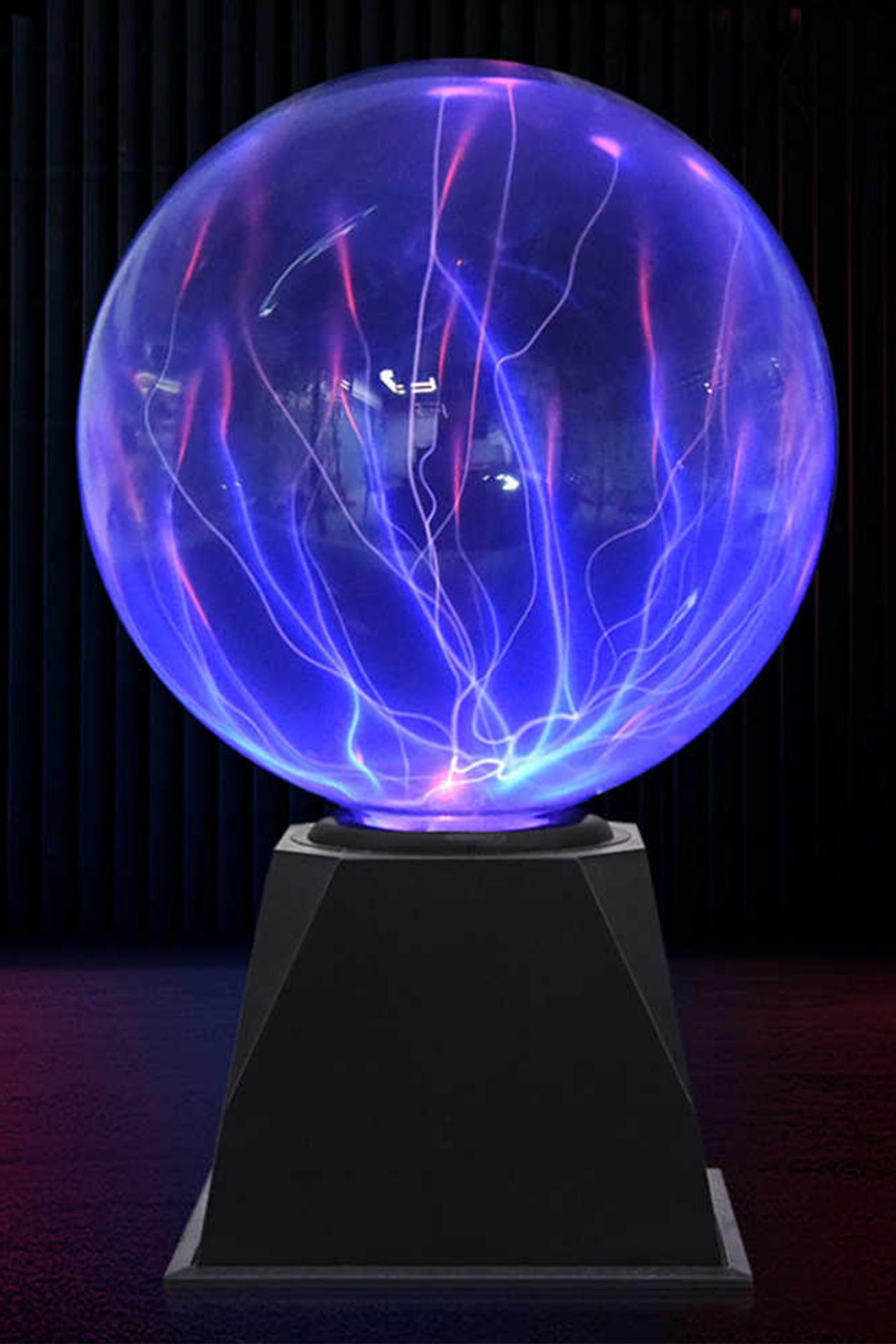 Плазменный шар Тесла Audio (D-20 см) Blue