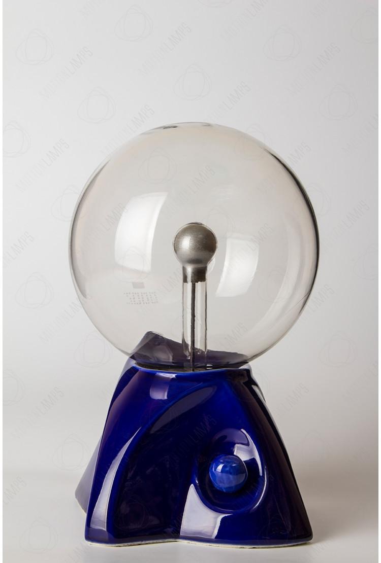 "Плазменный шар ""Пирамида"" (16см) синий"