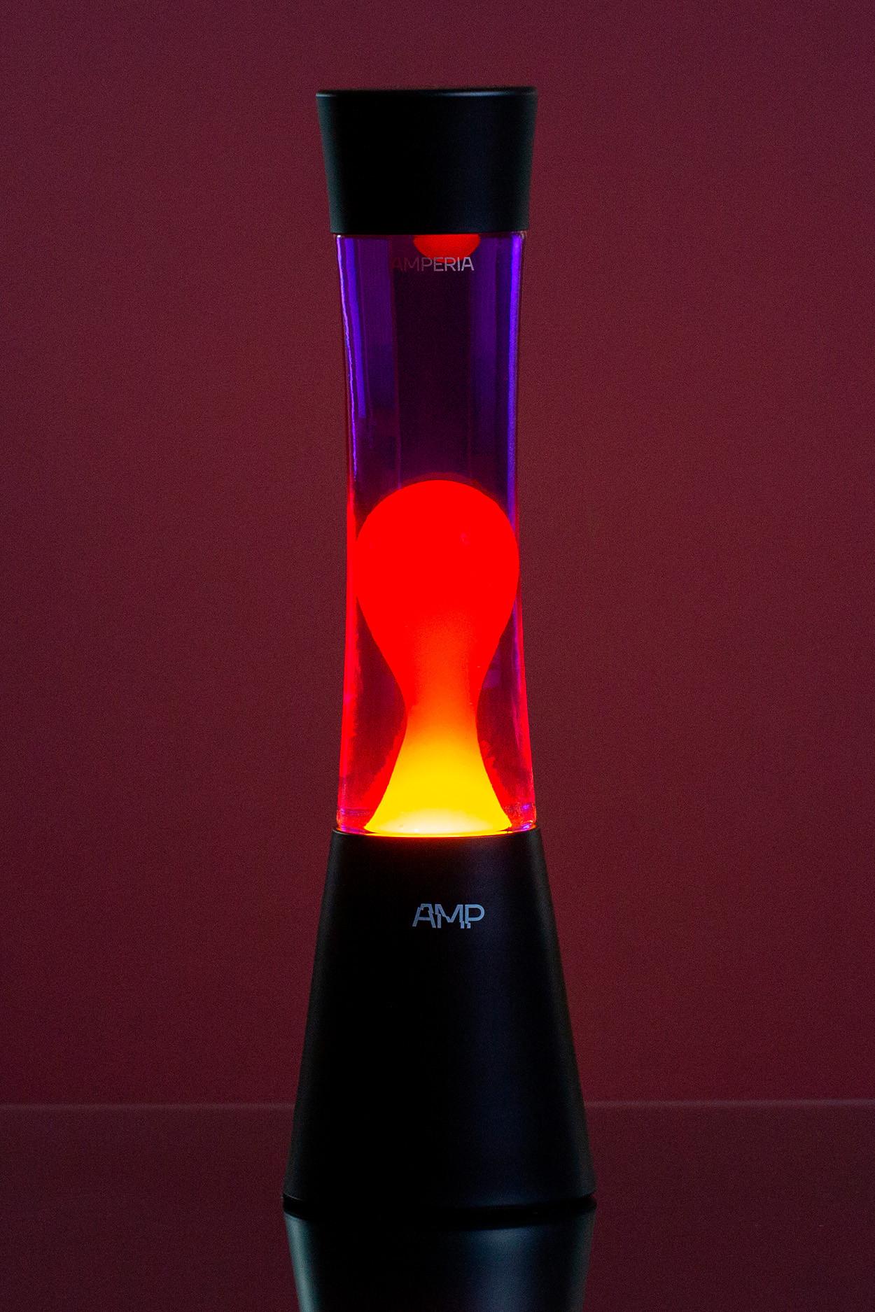 Лава лампа Amperia Grace Оранжевая/Фиолетовая (39 см)