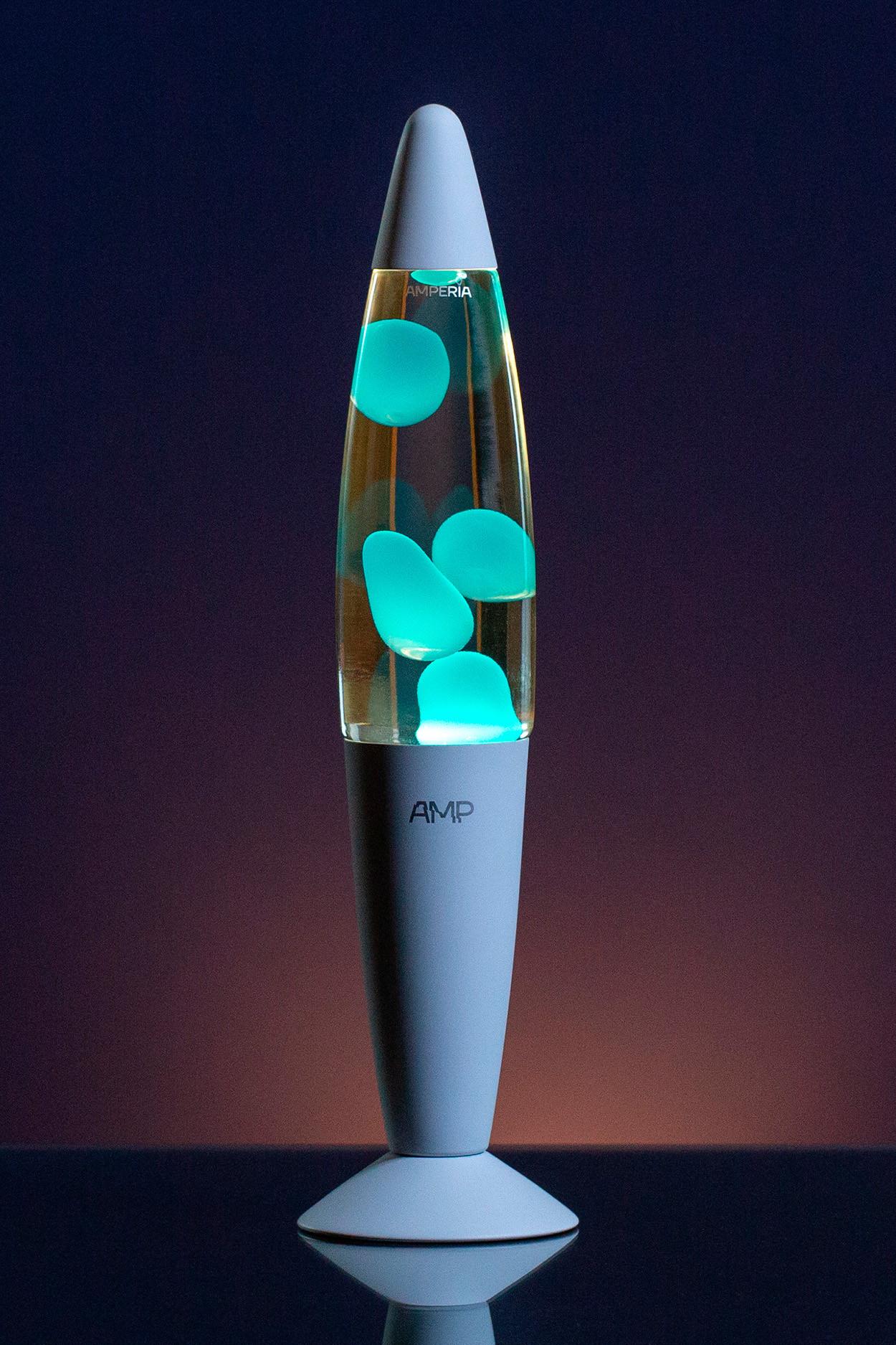 Лава лампа Amperia Rocket Бирюзовая/Прозрачная (35 см)