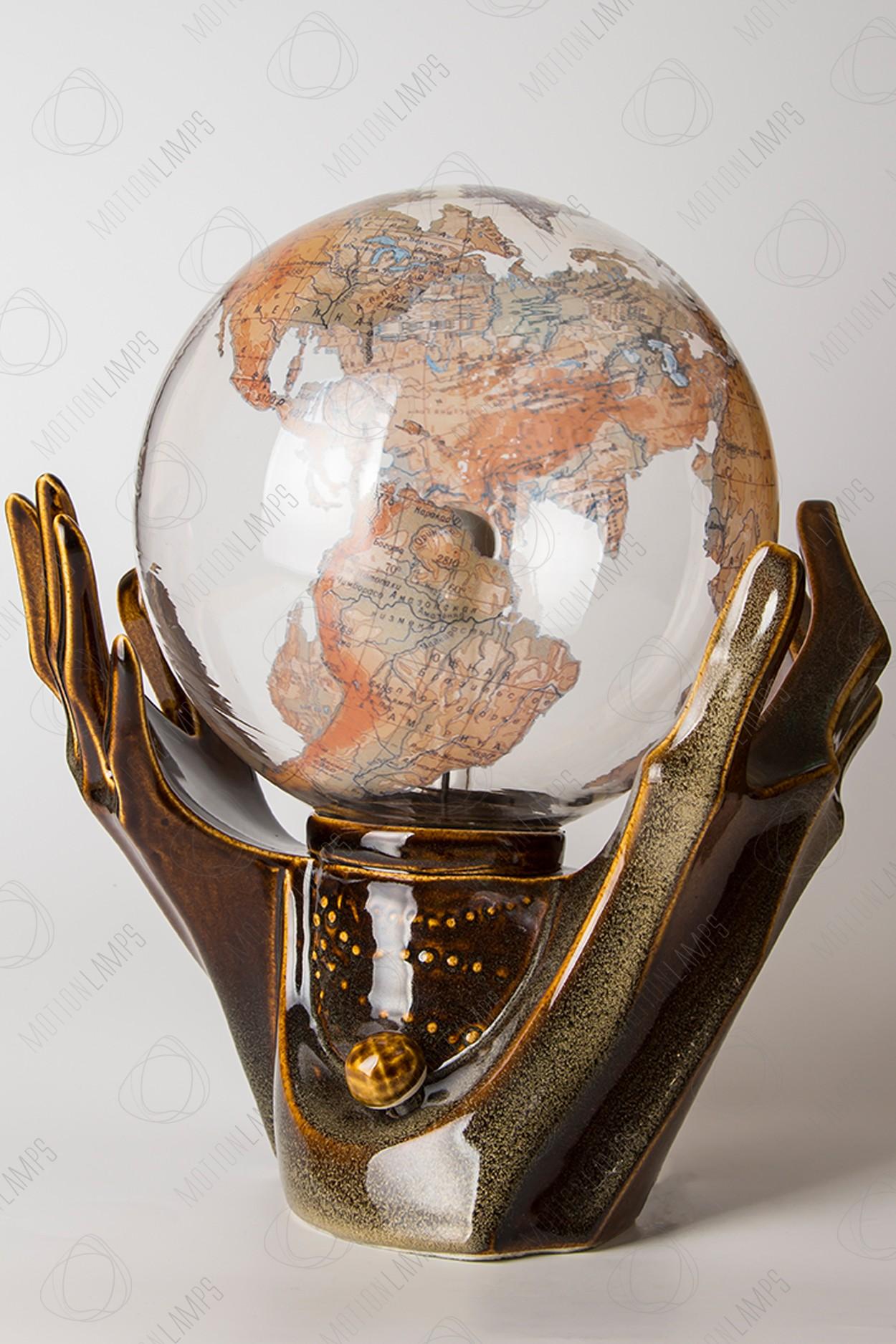 """Плазменный шар """"Глобус"""" (21см)"""