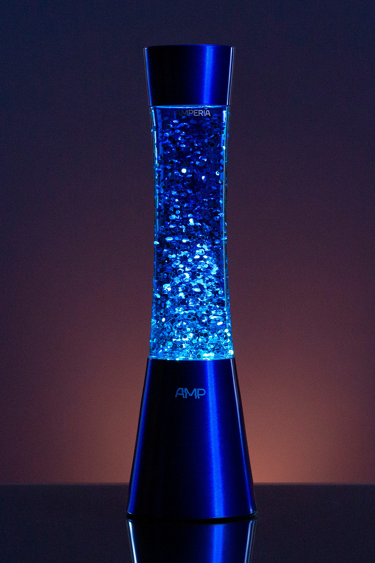 Лава лампа Amperia Grace Сияние Синее (39 см)