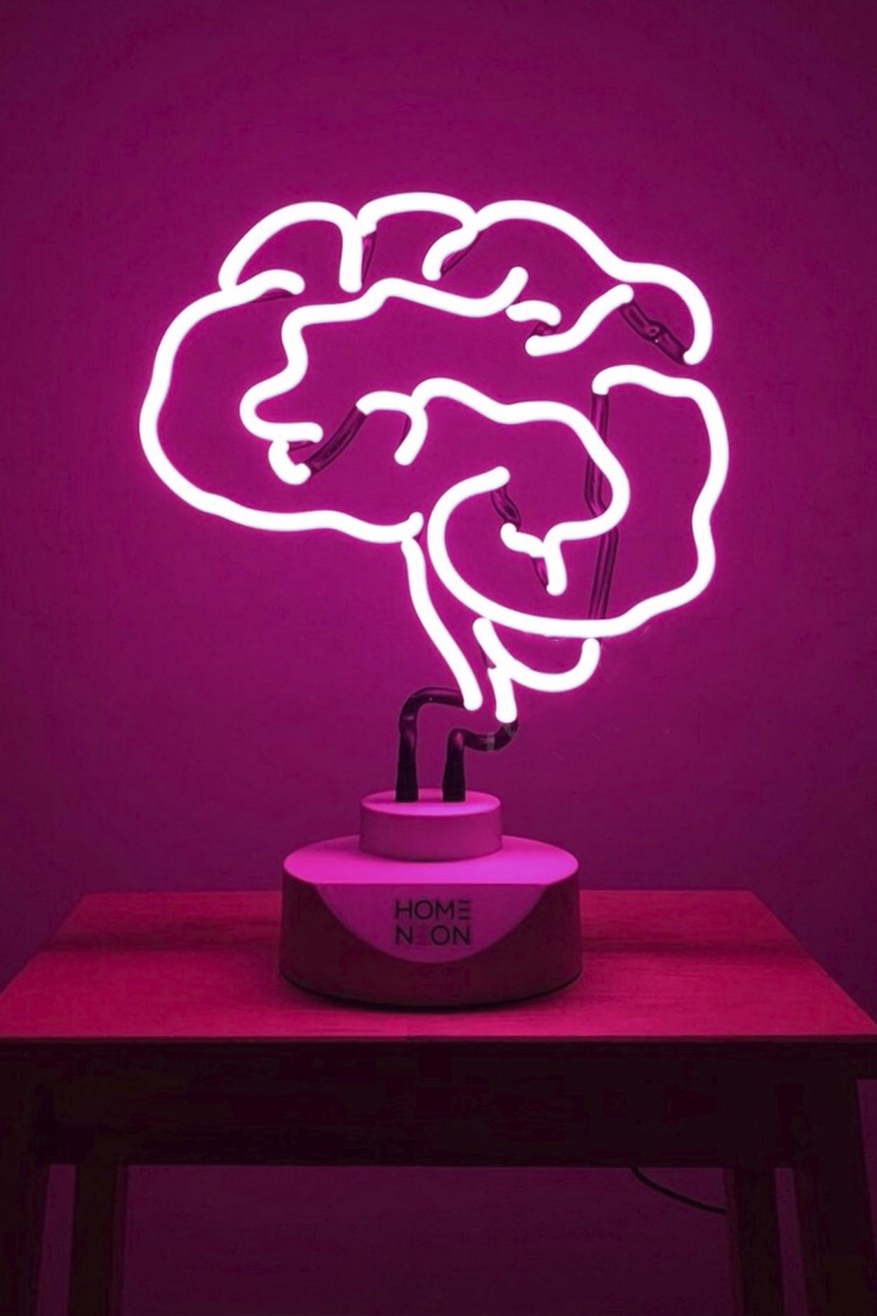 """Неоновая лампа """"Brain"""" (розовый)"""