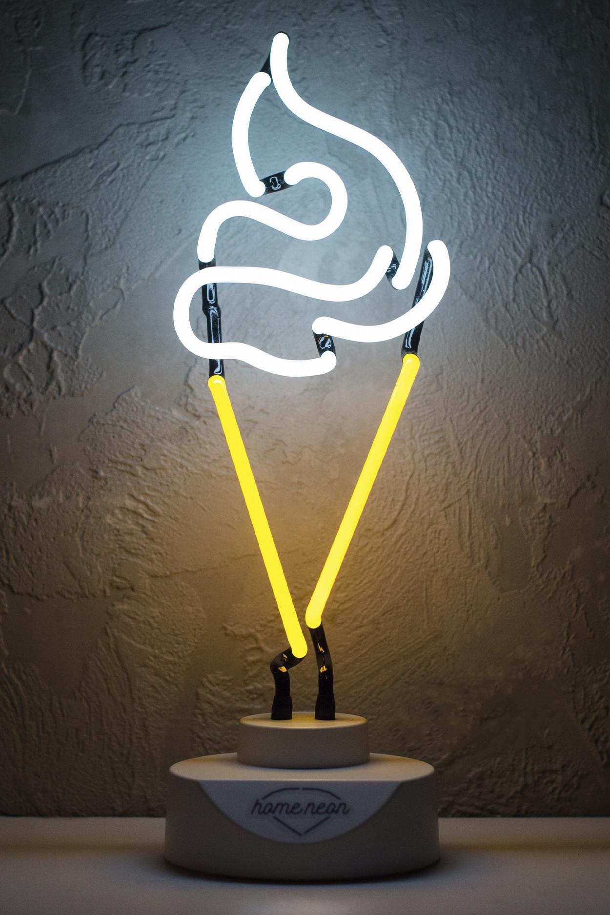 """Неоновый светильник-ночник """"Мороженое"""""""