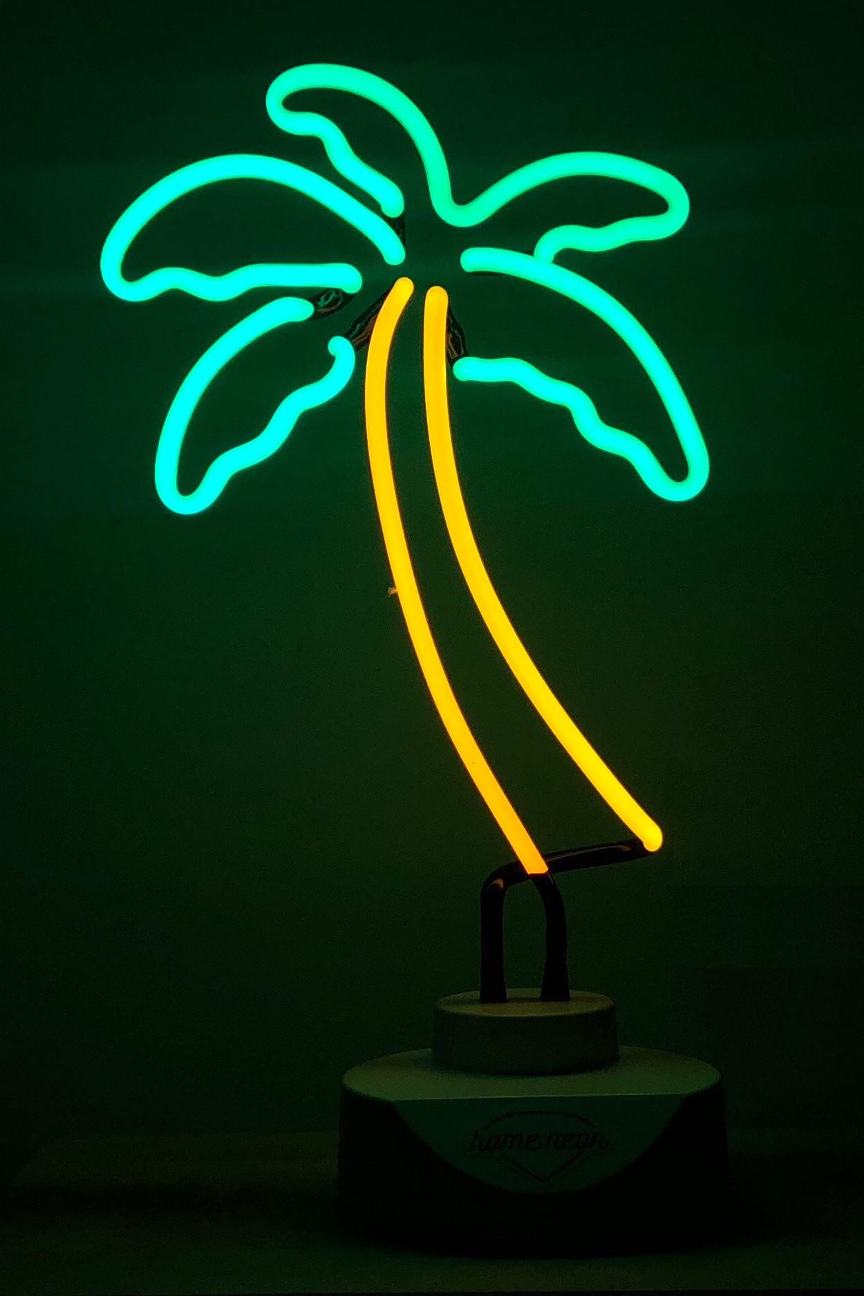 """Неоновый светильник-ночник """"Пальма"""""""