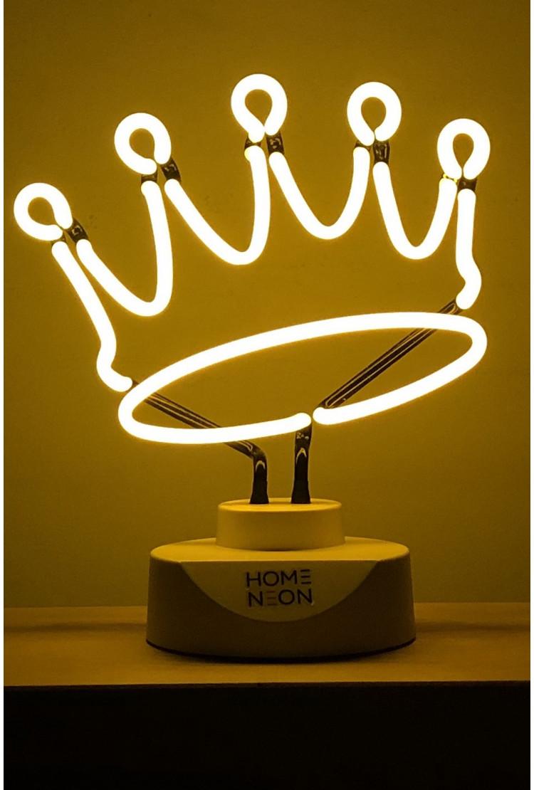 """Неоновая настольная лампа """"Корона"""""""