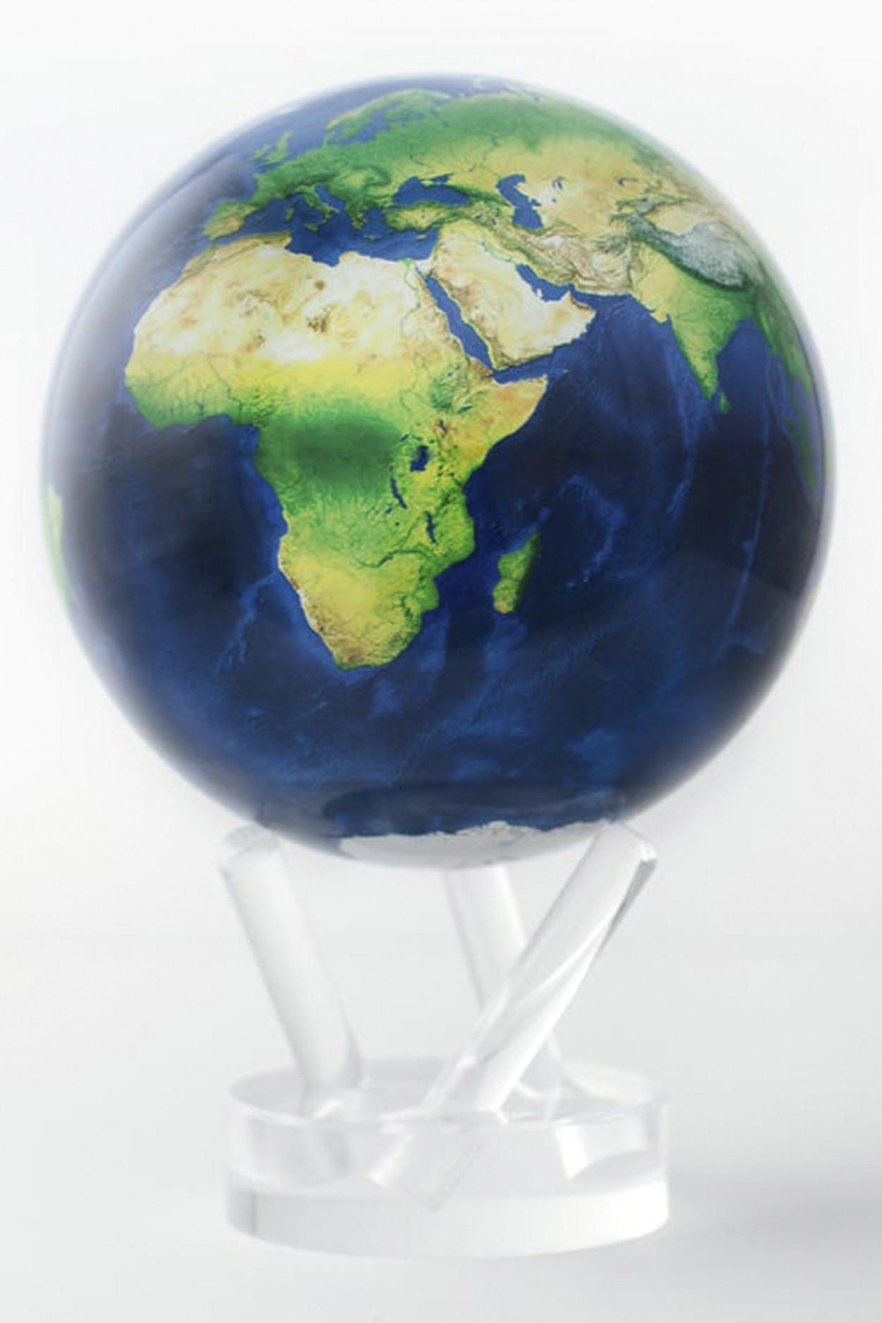 Самовращающийся глобус MOVA GLOBE d22 см вид из космоса (голубой)