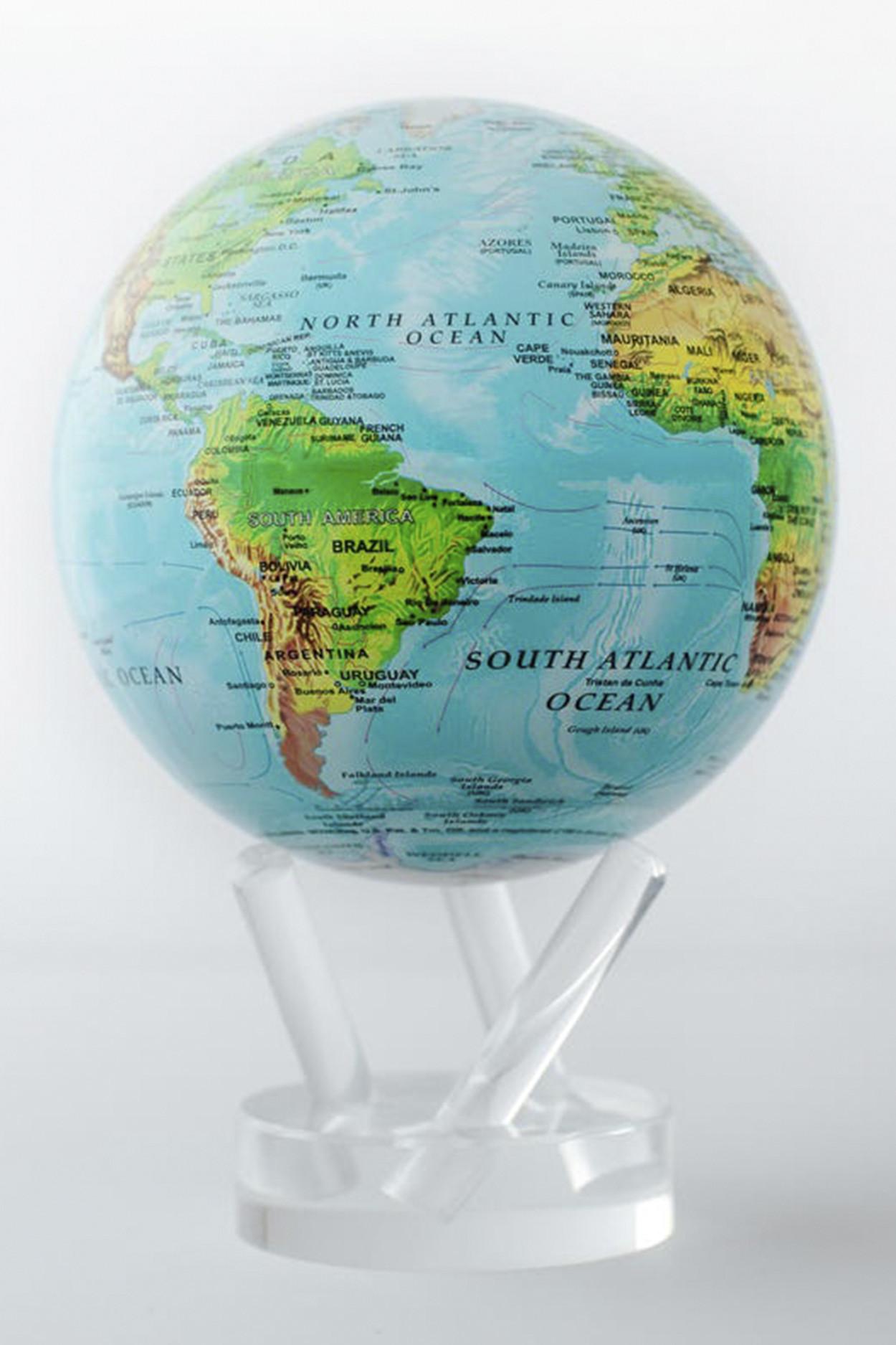 Самовращающийся глобус Mova d22 с географической картой мира