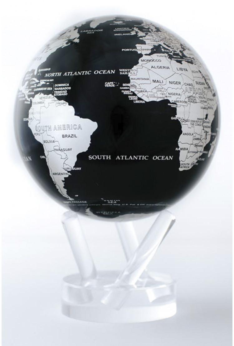 Глобус самовращающийся MOVA GLOBE d12 см с политической картой Мира (темно синий с серебром)