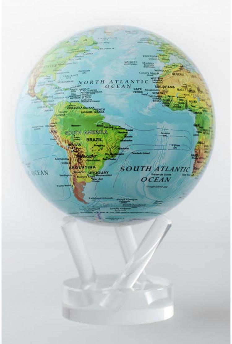 Самовращающийся MOVA GLOBE d12 см с общегеографической картой Мира