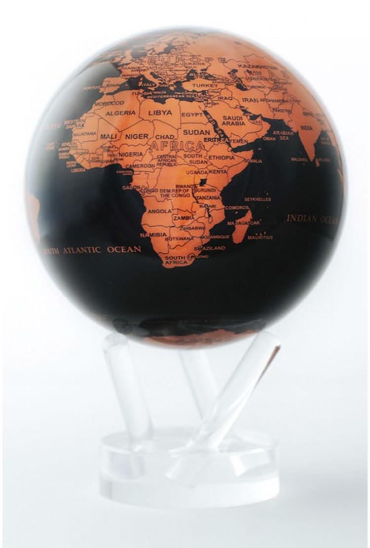 Глобус MOVA GLOBE d12 см с политической картой Мира, цвет бронза