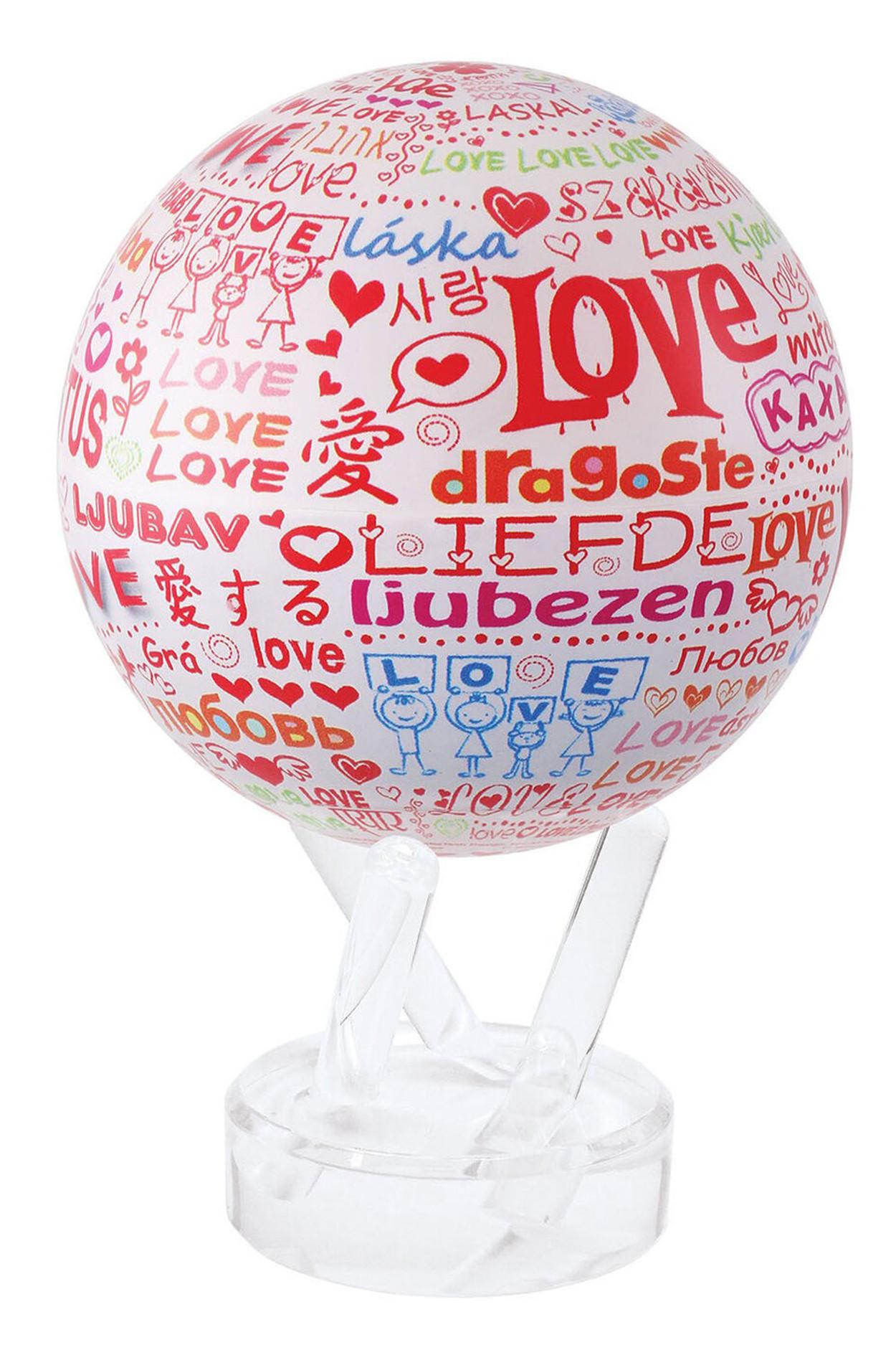 Глобус самовращающийся MOVA GLOBE d12 см С ЛЮБОВЬЮ