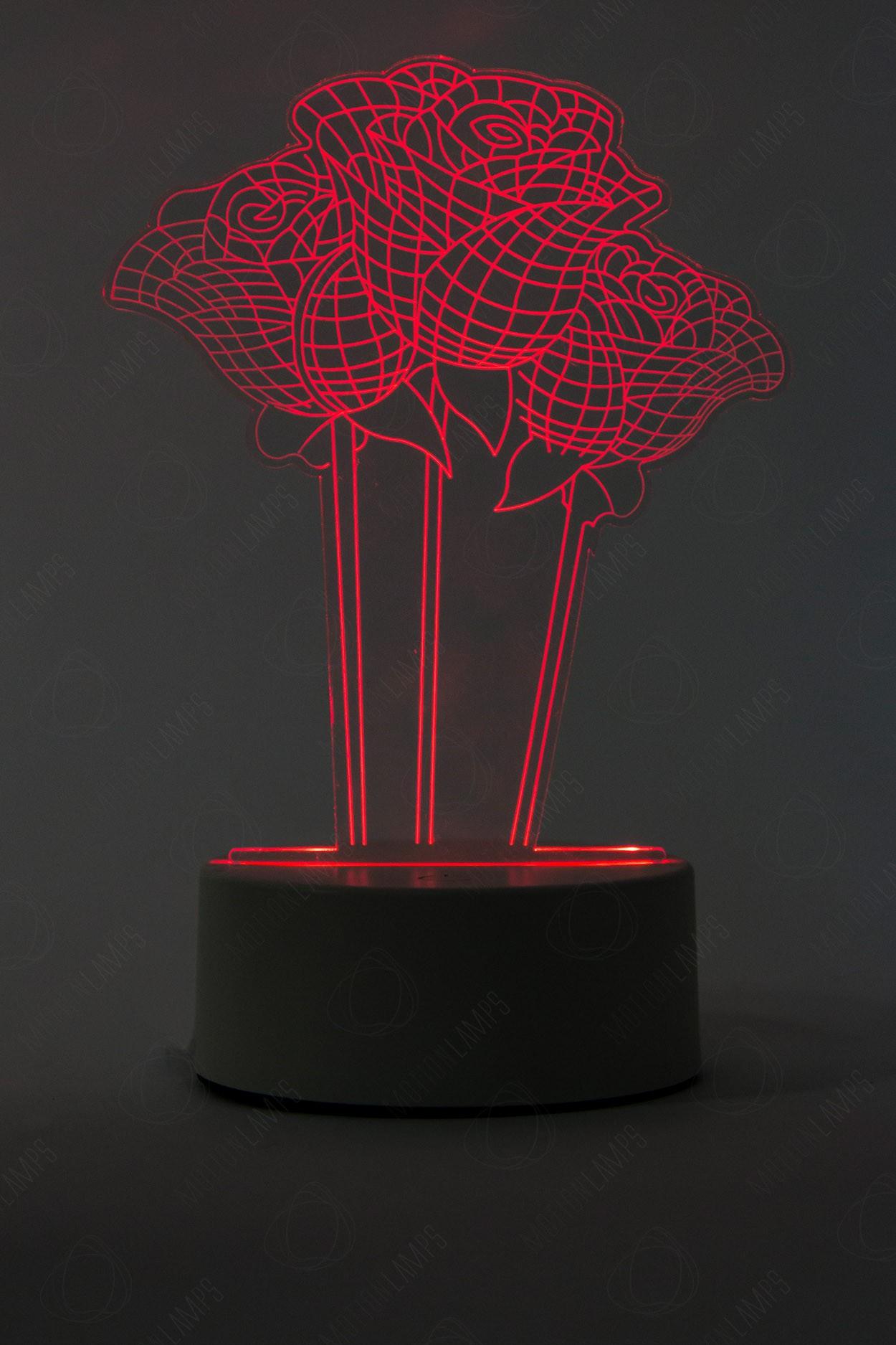 Дополнительная панель для 3D светильника Розы 3 шт