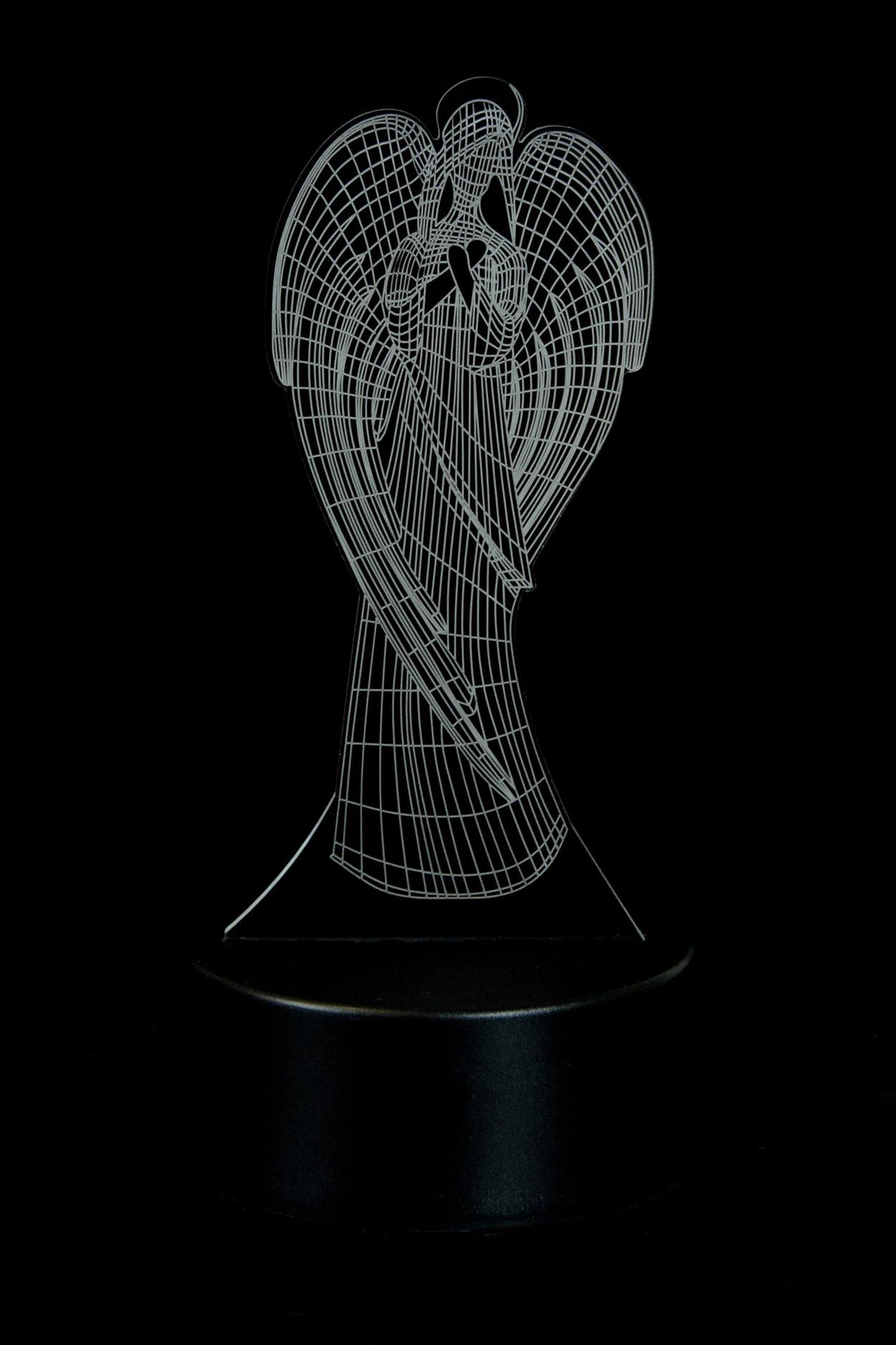 Дополнительная панель для 3D светильника  Ангел