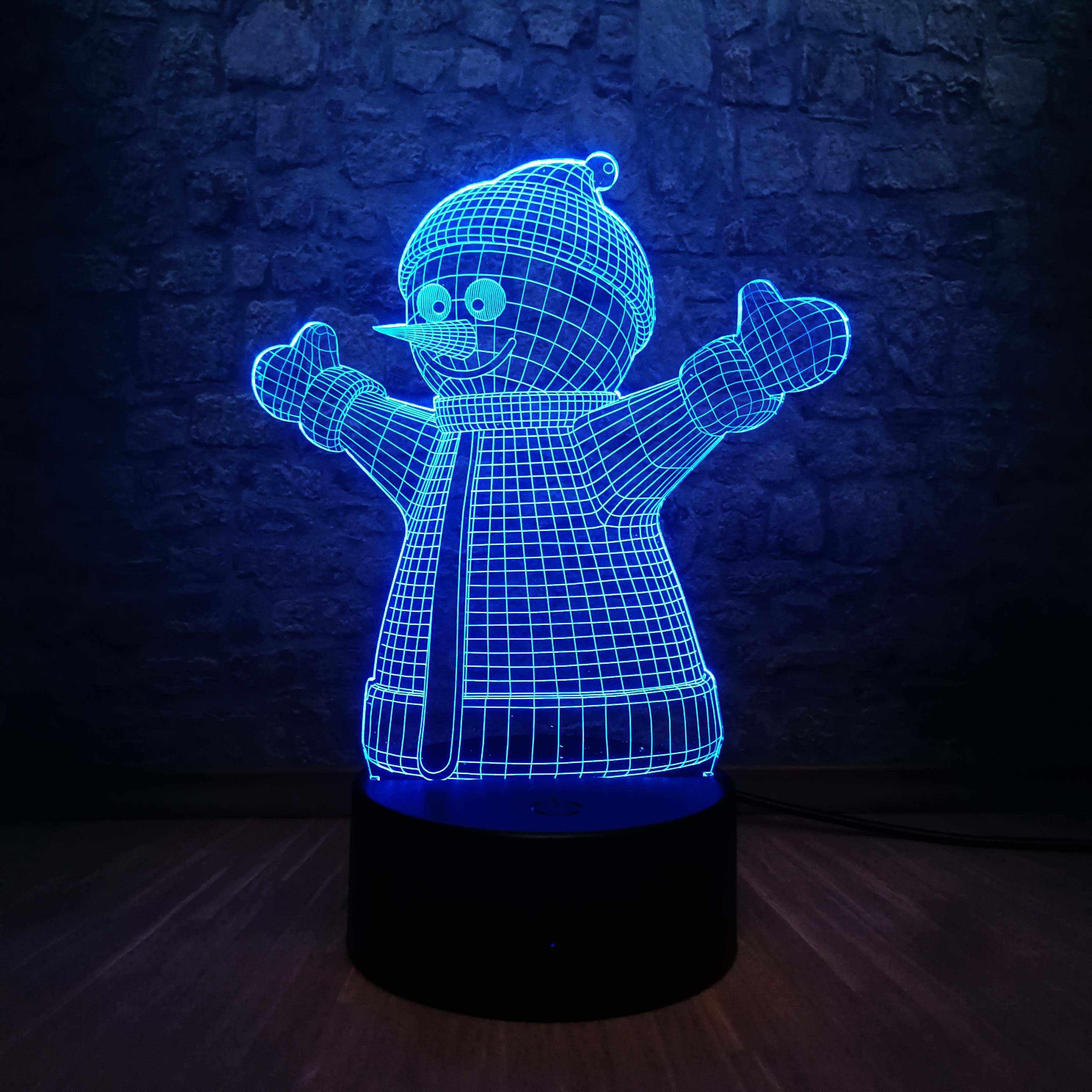"""Дополнительная панель для 3D светильника """"Снеговик"""""""