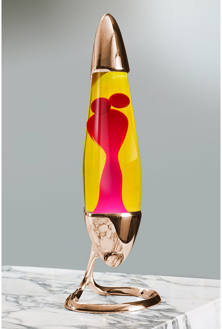 Лава-лампа Mathmos Neo Розовая/желтая Copper (Воск)