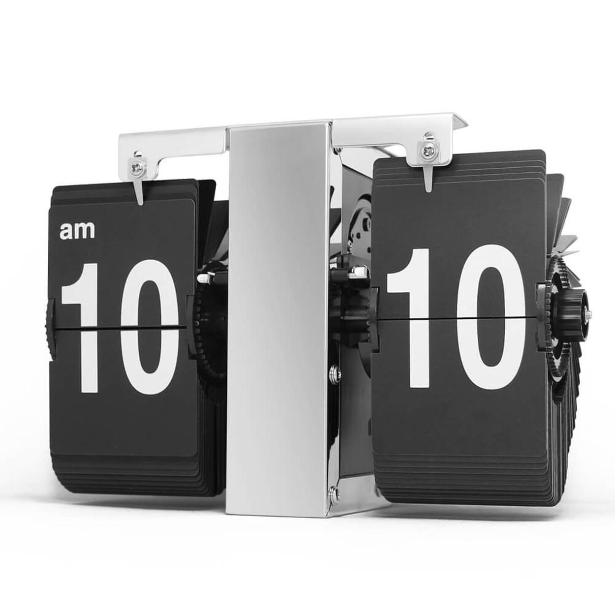 Перекидные часы Air-Flip Volk (серебристые), 16x21x8 см