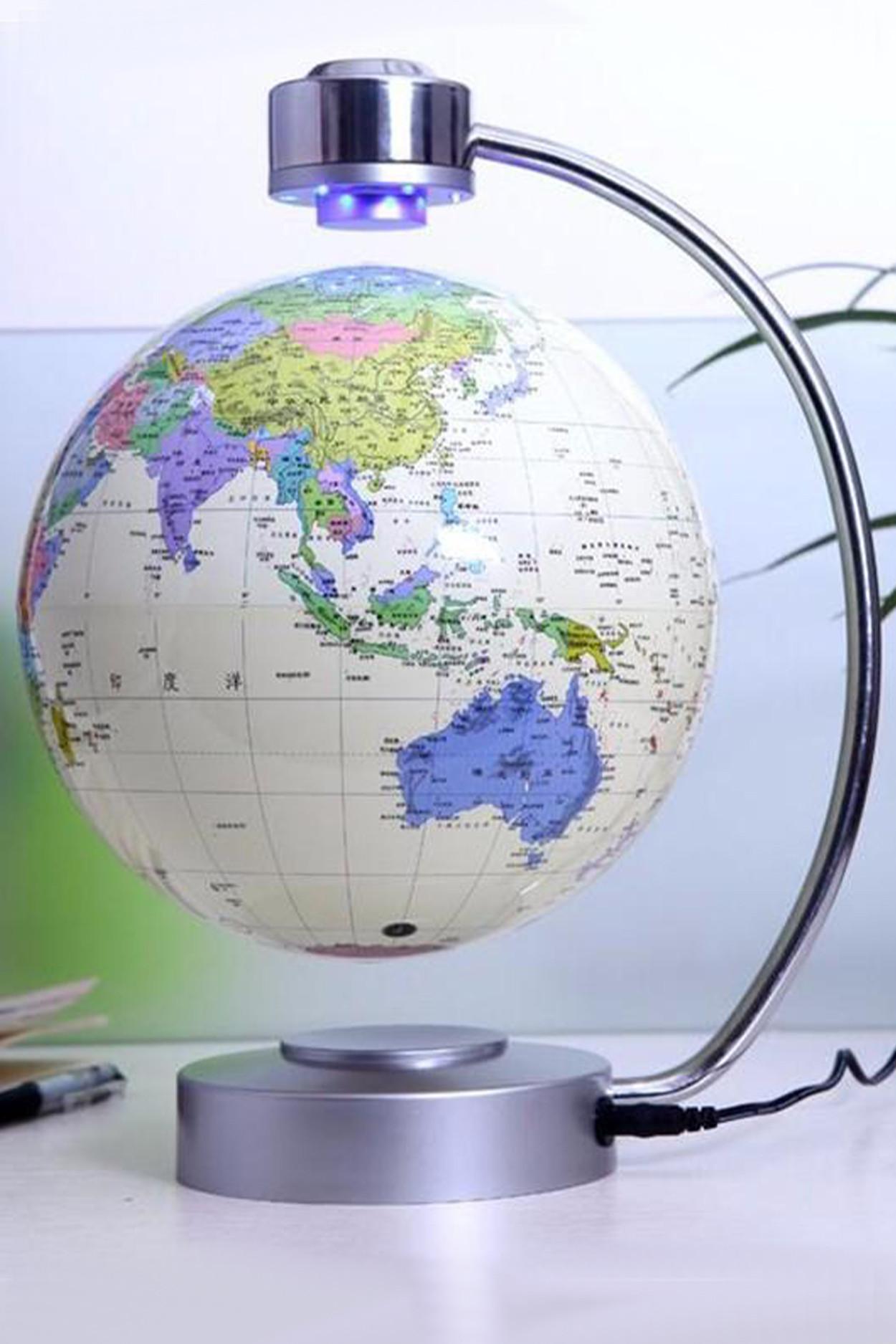 Левитирующий глобус белый (D-20см) (levitron)