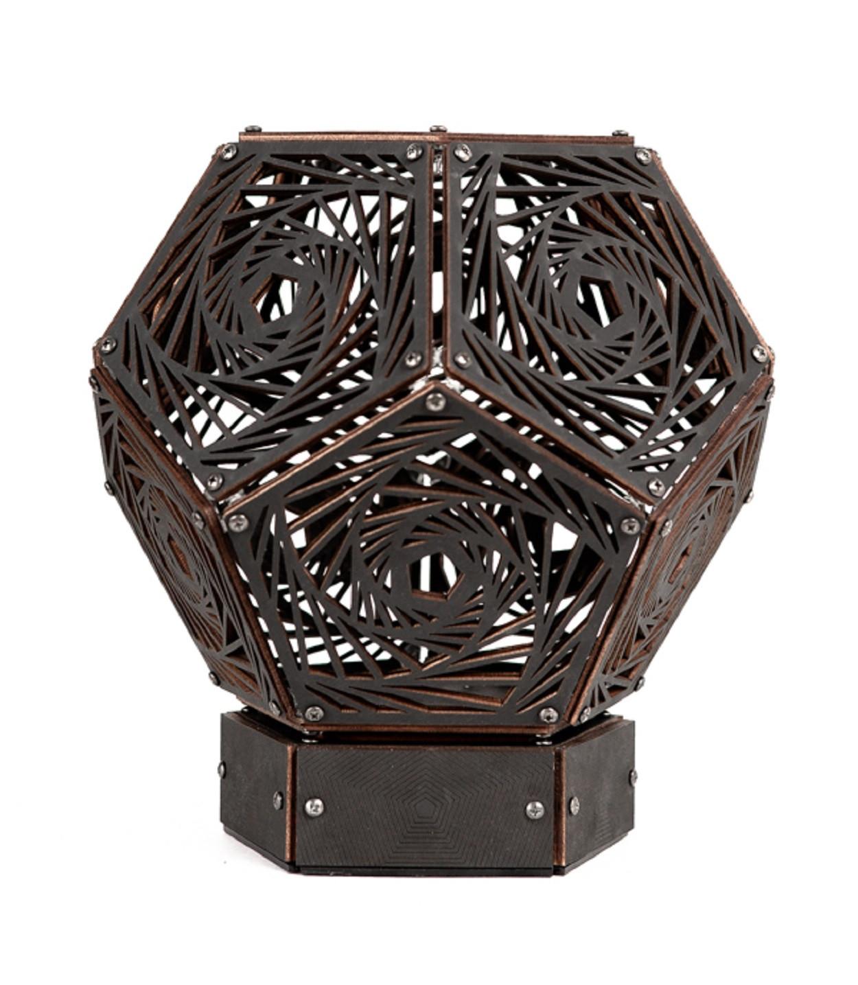 """Проекционный ночник """"Nautilus"""", рисунок Vortex, черный (145х160 мм)"""