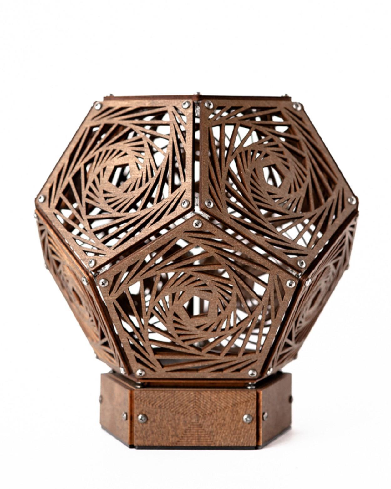 """Проекционный ночник """"Nautilus"""", рисунок Vortex,коричневый (145х160 мм)"""