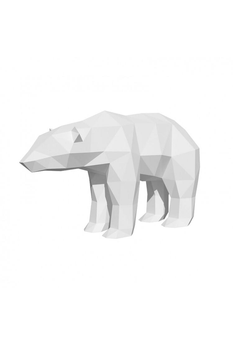 """Оригами фигура для сборки """"Полярный медведь"""""""
