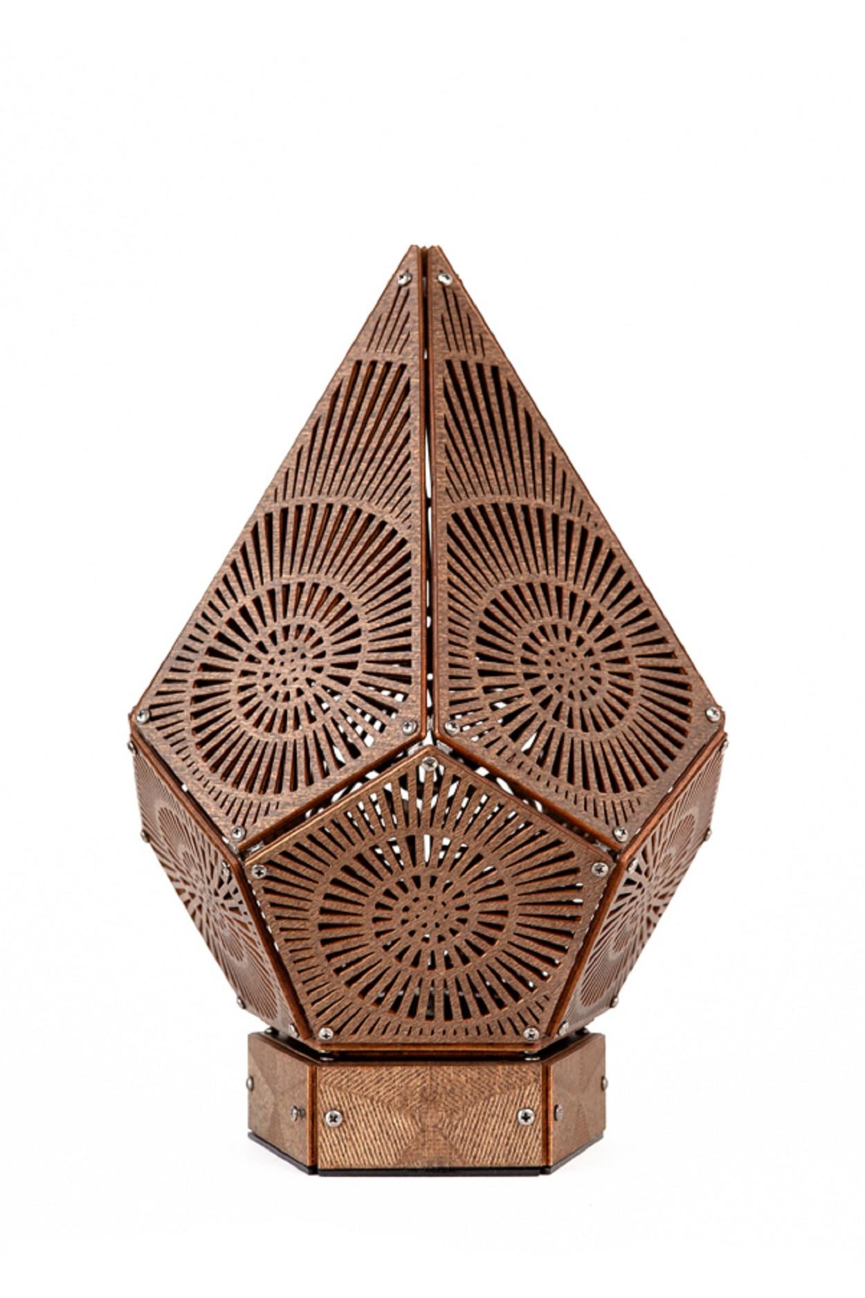 Ночник  Simple, рисунок Nautilus, коричневый, (145х220 мм)