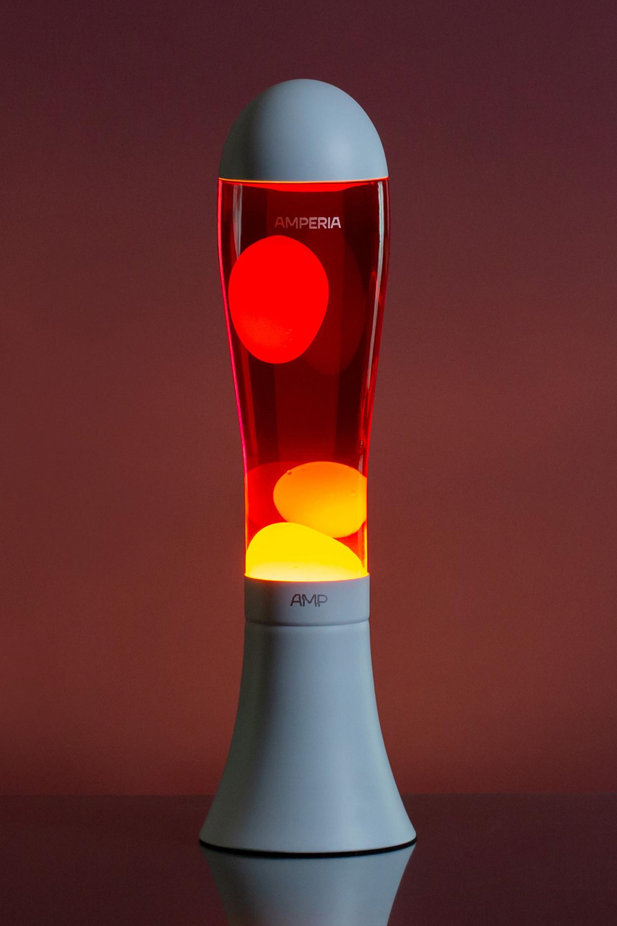 Лава лампа Amperia Alien Желтая/Красная (42см)