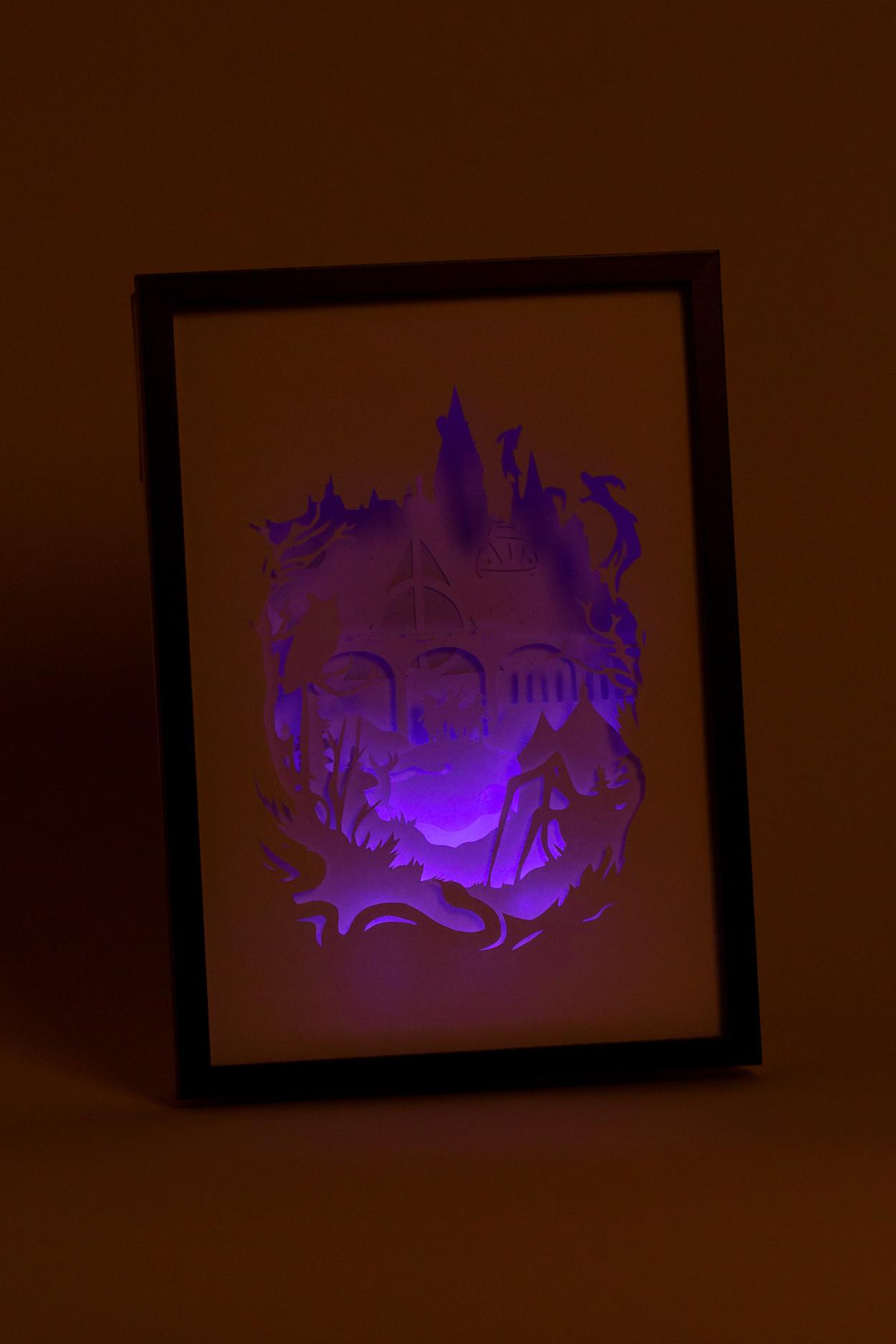 """Ночник картина из бумаги с подсветкой """"Гарри Поттер"""""""