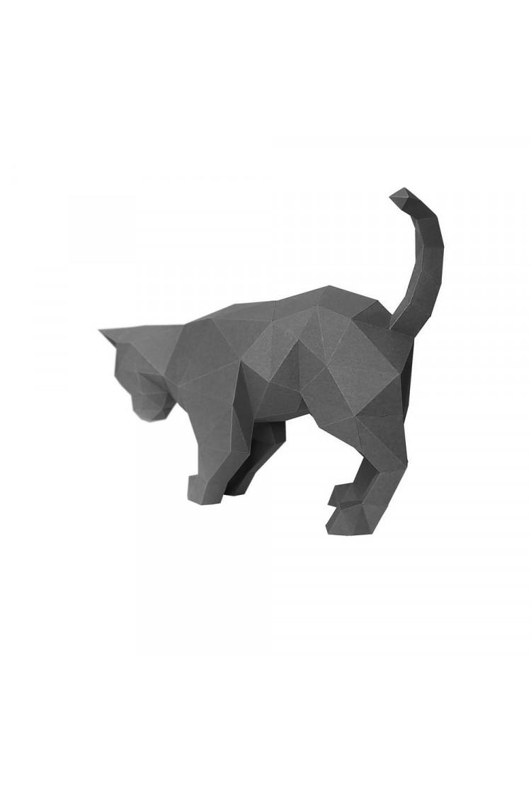 """Оригами фигура Paperraz для сборки """"КОТ ДЫМОК"""""""