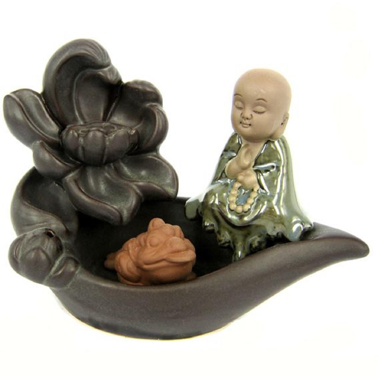 Подставка для благовоний Будда с лягушкой 13х5 см (пуля)