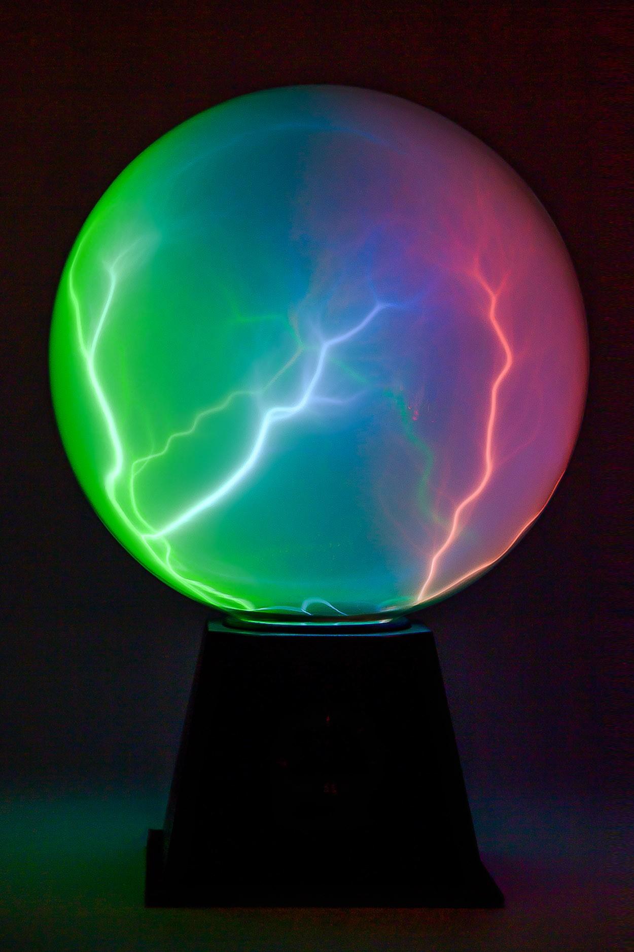Плазменный шар Rainbow 20 см (Audio)