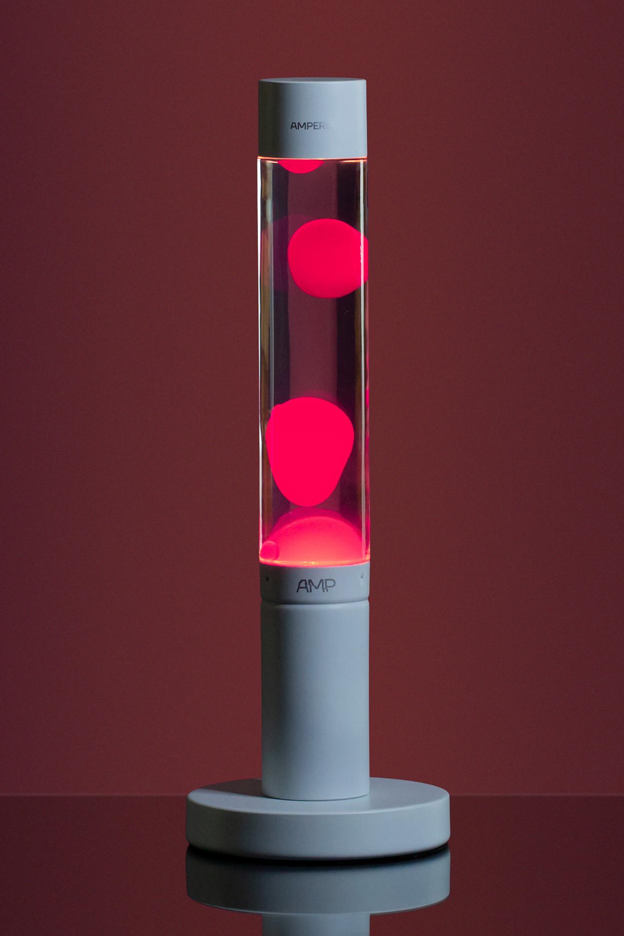 Лава лампа Amperia Slim Розовая/Прозрачная (39 см)