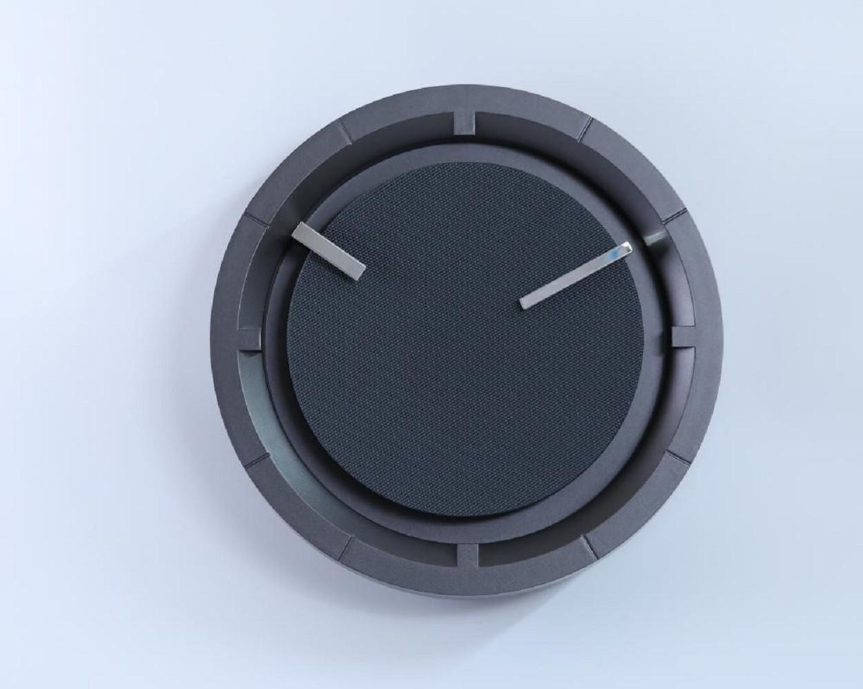 Круглые цифровые настенные часы ( 30×6×30 см)