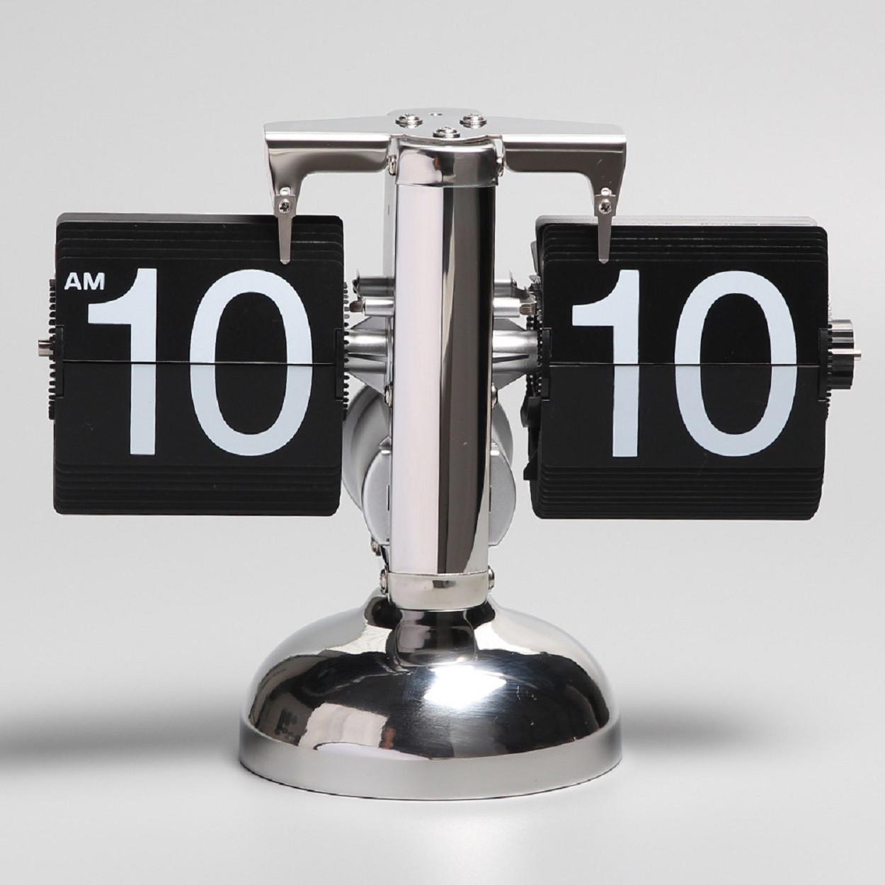 Классические перекидные часы FlipClock, черные (21×8×16 см)